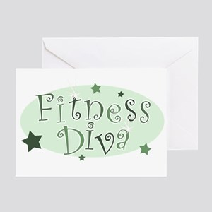 """""""Fitness Diva"""" [green] Greeting Cards (Package of"""